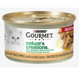 Purina Gourmet Nature's Creations gr 85 Ricco in Tacchino, guarnito con spinaci e pastinaca