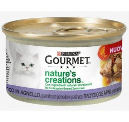 Purina Gourmet Nature's Creations gr 85 Ricco in Agnello, guarnito con pomodori e pastinaca