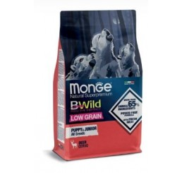 Monge Natural Superpremium BWild Low Grain Formula Kg 2,5 Puppy Junior Cervo
