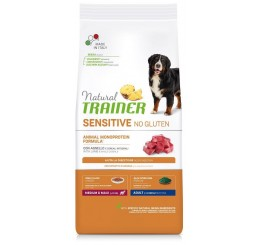 Trainer Natural Sensitive No Gluten Adult Medio Maxi Agnello Kg 12