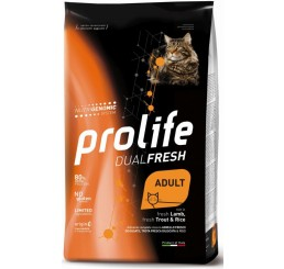 Prolife Gatto Dual Fresh Adult gr 400 Agnello Trota - Dual Fresh Adult fresh Lamb, fresh Trout & Rice