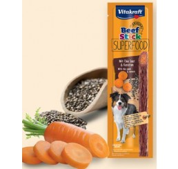 Vitakraft Snack Cane Beef Stick Superfood Carote e Chia 25 gr