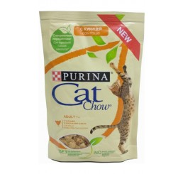 Purina Cat Chow Busta Gatto Adult 1+ con Pollo in gelatina con zucchine 85 gr
