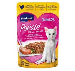 Vitakraft Gatto Poesie gr 85 Busta DeliSauce Pollo JUNIOR