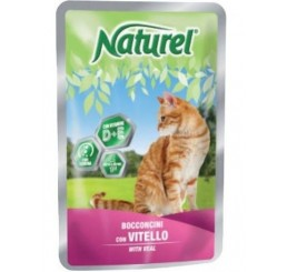 Naturel Gatto Busta 100 gr Vitello