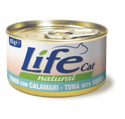 Life Cat natural Tonno con Calamari 85 gr