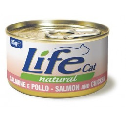 Life Cat Natural Salmone e Pollo 85 gr