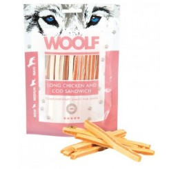 Woolf Snack Cani Sandwich Morbido di Pollo e Merluzzo 100 gr (Long Chicken and cod sandwich)