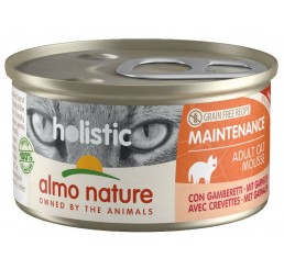 Almo Nature Gatto Holistic Grain Free Recipe Maintenance / Ricetta Monoproteica Adulto Mousse 85 gr con Gamberetti