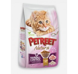 Petreet Natura Hairball gr. 400 (secco)
