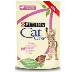 Purina Cat Chow Busta Gatto Kitten Agnello 85 gr