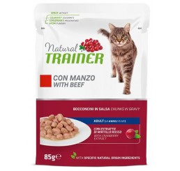 Trainer Natural Gatto Busta gr. 85 Adult Manzo