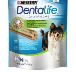 Purina Snack per Cane Dentalife Daily Orale Care Medium in confezione da 115gr, numero Sticks 5