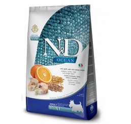 Farmina N&D Ancestral Canine Low Grain Ocean Dog Adult Mini Kg 2,5 Ricetta Merluzzo, farro, avena e arancia
