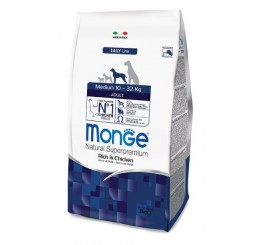 Monge Cane Adult Medium Pollo Kg 12