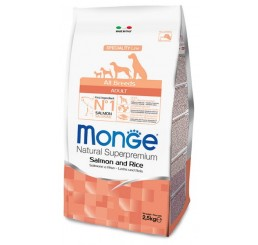 Monge Cane Adult All Breed Salmone e Riso 12 Kg