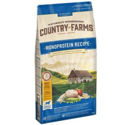 Naturally Nourishing Country Farms Cane Adult Kg 2,5 Monoprotein Recipe / Ricetta Monoproteica Ricco in Pollo