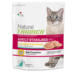 Trainer Natural Gatto Sterilised Con Carni Bianche Kg 1.5
