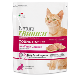 Trainer Natural Gatto Adult Young Con Pollo Fresco Kg 1.5