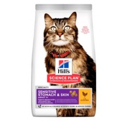 Hill's Feline Adult Sensitive Stomach & Skin gr 300 Pollo