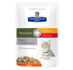 Hill's Feline Busta Prescription Diet™ Metabolic + Urinary Stress Pollo gr 85