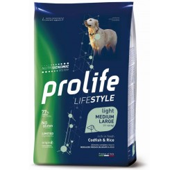 Prolife Cane Life Style Adulto Medium Large Light Merluzzo Kg 2,5 - Life Style Adult Light Codfish & Rice - Medium/Large