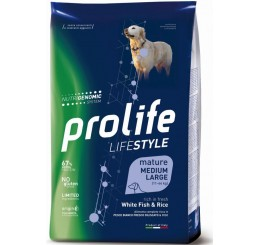 Prolife Cane Life Style Mature Medium Large Pesce Bianco Kg 2,5 - Life Style Mature White Fish & Rice - Medium/Large