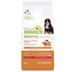 Trainer Natural Sensitive No Gluten Puppy & Junior Medio Maxi Kg 12 Salmone
