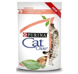 Purina Cat Chow Busta Gatto Sensitive Salmone 85 gr