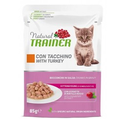 Trainer Natural Gatto Busta gr. 85 Kitten Tacchino