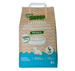 Sweep Eco lettiera per gatti Agglomerante Biodegradabile vegetale 6 L