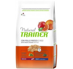 Trainer Natural Adult Medium Pollo Fresco Riso Cicoria Alga Spirulina 3 Kg