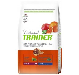 Trainer Natural Adult Medium Prosciutto e Riso 12 Kg