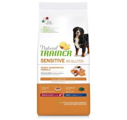 Trainer Natural Sensitive No Gluten Adult Medio Maxi Salmone Kg 3