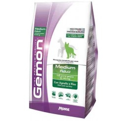 Gemon Cane Medium Adult Kg 15 Agnello Riso