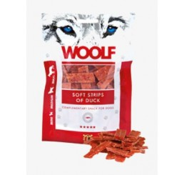Woolf Snack Cani Monoproteico Strisce Morbide di Anatra 100 gr