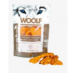 Woolf Snack Cani Monoproteico Osso di Pollo con Zucca e Avena  100 gr (Chicken, pumpkin, and oats bone)